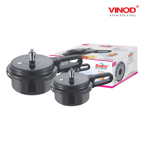 DONIV INDUCTION BASE HARD-ANODIZED PRESSURE PAN
