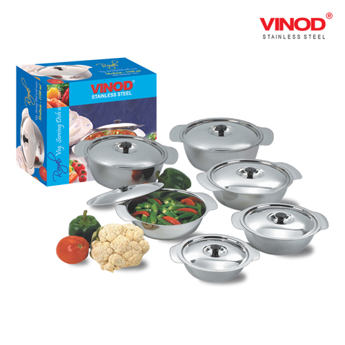 VINOD ROYAL VEG. SERVING DISH with cover