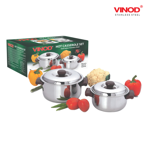 VINOD 2 PCS. HOT CASSEROLE SET (Small)