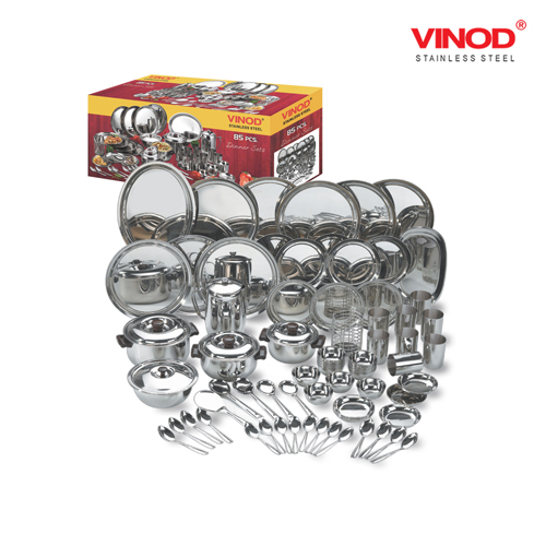 VINOD 51 PIECES DELUXE DINNER SET FOR SIX PERSONS IN TWO BOXES