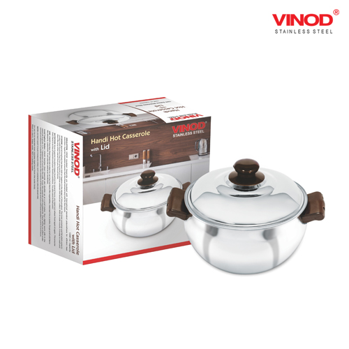 VINOD HANDI HOT CASSEROLE WITH GLASS LID
