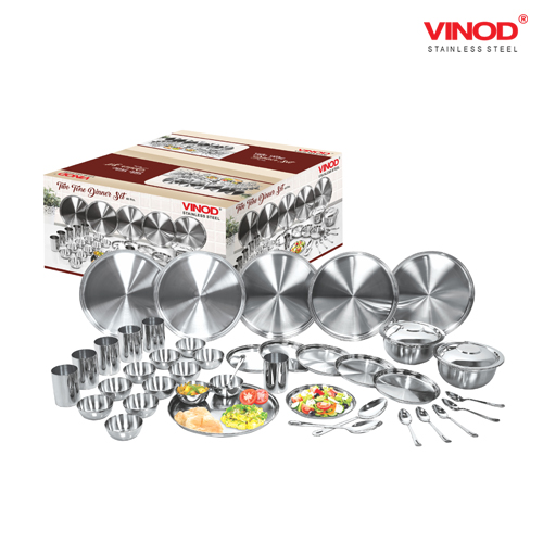 VINOD 40 PIECES TWO TONE DINNER SET