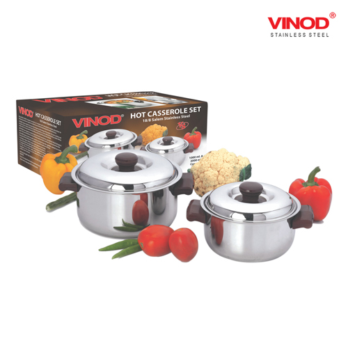 VINOD 2 PCS. HOT CASSEROLE SET (Medium)