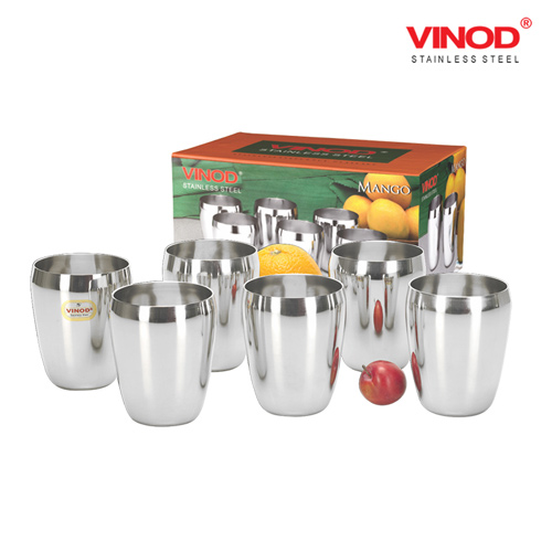 VINOD MANGO GLAS-Six glasses in one box