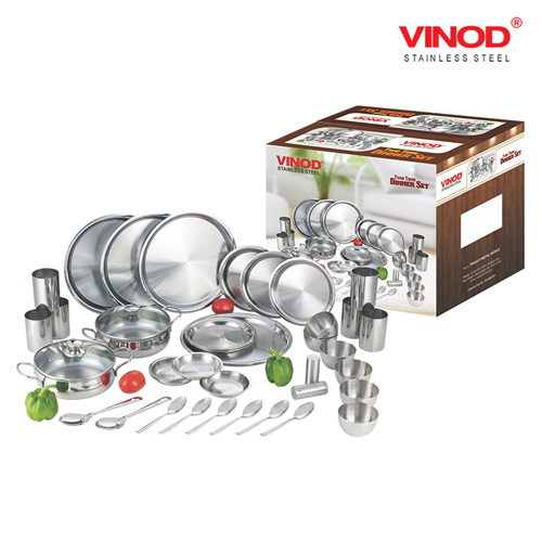 VINOD 44 PIECES TWO TONE DINNER SET FOR SIX PERSON
