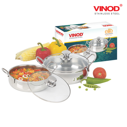 VINOD ELITE BOWL with glass lid 2 pcs set