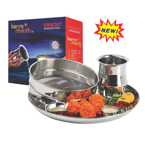 VINOD KARVA CHAUTH 7 PIECES SET