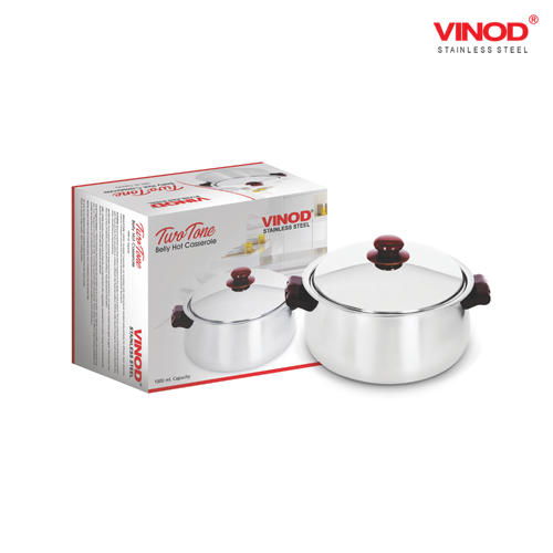 VINOD TWO TONE BELLY HOT CASSEROLE